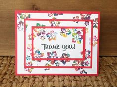 Thank You Card  Envelope Included  Blank by CardstockCreationsCo
