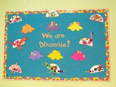 Dinosaur bulletin board from Toddler III