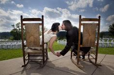 country wedding... Love the idea as these being the bride and groom seats for the reception !
