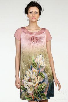 Silk Tunik Magnolia Flowers