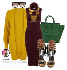 Untitled #2558 by stylebydnicole on Polyvore featuring polyvore, fashion, style, River Island, Steve Madden, Bita Pourtavoosi and CÉLINE