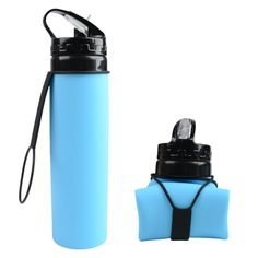 Creative Folding Bottles Water Bottle Foldable Silicone Outdoors Traveling Sport Cycling Kettle Drinkware Water Bottle Caps, Travel Water Bottle, Travel Bottles, Drink Bottles, Water Bottles, Bottle Bottle, Plastic Bottles, Foldable Water Bottle, Collapsible Water Bottle