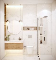 Create a successful marble bathroom decor - our ideas and inspirations in pictures! Best Bathroom Designs, Bathroom Design Luxury, Modern Bathroom Decor, Modern Bathroom Design, Modern Luxury Bathroom, Small Bathroom Layout, Bathroom Design Layout, Bathroom Design Inspiration, Toilet Design