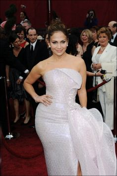 Do you think this outfit lands J. Lo on the list for worst red carpet fashions in Oscar history?