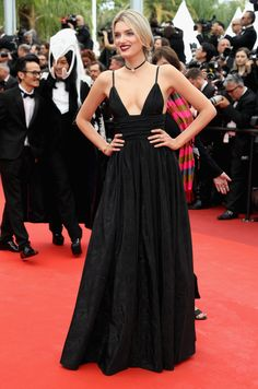 """2016 Cannes Film Festival - Lily Donaldson in Saint Laurent at Opening Gala and """"Cafe Society"""" Premiere"""