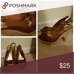 Love Culture Sandals Caramel wedge sandal. Only worn 2 times Shoes Sandals