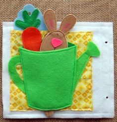 Once Upon a Time Felt Quiet Book .PDF Pattern- Peter Rabbit