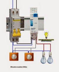 Esquemas eléctricos: Minutero escalera 3hilos