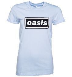 Womens Blue Oasis Logo Boyfriend T-Shirt The groundbreaking Brit pop record Definitely Maybe launched onto our Walkmans back in 1994 and still sounds as fresh as it did then. Celebrate the Oasis classic with this awesome boyfriend fit tee. http://www.MightGet.com/may-2017-1/womens-blue-oasis-logo-boyfriend-t-shirt.asp