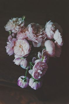 Still life flower photography Bouquet of English Roses done in a dark background Fine Art Photograph (unframed, unmatted)  TITLE:  English Roses Still