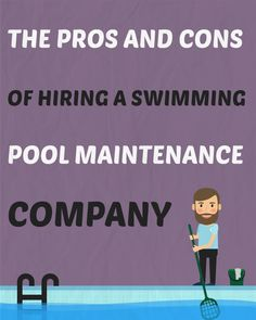 More and more homeowners today with a swimming pool in their backyard are considering outsourcing the pool maintenance to a professional swimming pool service company. Here are some of the pros and cons of making this decision. Professional Swimming, Swimming Pool Maintenance, Pool Care, Pool Service, Pool Accessories, Pool Supplies, Swimming Pools, Need To Know, University