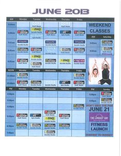 June Fitness Schedule @WorkSystems PC Pella Location