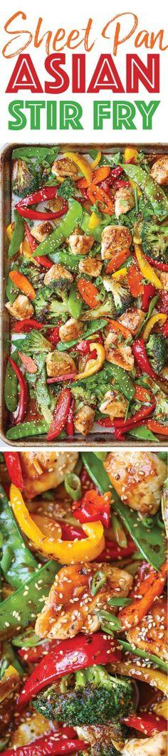 Sheet Pan Asian Stir Fry Recipe