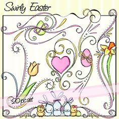 Swirly Easter