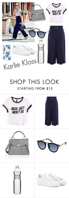 """Steal Karlie Kloss style"" by knockstyles on Polyvore featuring H&M, Proenza Schouler, Neff, Dot & Bo, adidas and Sonix"