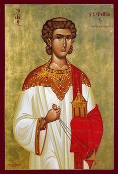 Agios Stephanos Protomartis   Flickr - Photo Sharing! Religious Images, Religious Art, Church Icon, Roman Church, Saint Stephen, Byzantine Art, Orthodox Christianity, Orthodox Icons, Patron Saints