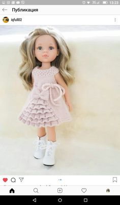 Loom Crochet, Loom Knitting, Baby Knitting Patterns, Doll Patterns, Ropa American Girl, Chunky Knitwear, Homemade Dolls, Knit Baby Dress, Waldorf Dolls