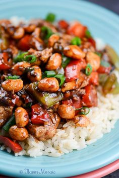 Easy Kung Pao Chicken Recipe is a spicy, sweet, and savory, quick and easy dinner for Chinese New Year or any weeknight. -FlavorMosaic.com