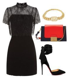 """Untitled #1415"" by whoneedsadvicewhenyougotme on Polyvore featuring Sandro, Mulberry and Christian Louboutin"