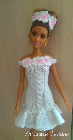 Diy Ken Doll Clothes, Knitting Dolls Clothes, Crochet Barbie Clothes, Clothes Crafts, Knitted Dolls, Barbie Knitting Patterns, Barbie Clothes Patterns, Doll Dress Patterns, Barbie Wardrobe