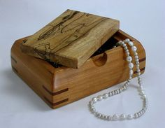 Gerald Fitzgerald jewelry box with Ruth Mary Pollack pearl necklace.