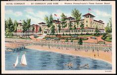 CONNEAUT LAKE PARK PA Hotel Conneaut pre 1948