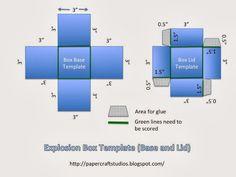 Paper Craft Studios: Explosion Box Tutorial (w/ Template)
