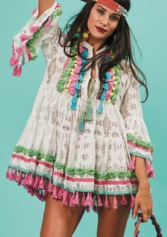 Ibiza style Gypsy Love tunic dress https://www.outdazl.com/collections/antica-sartoria-clothing/products/gypsy-love-lace-embroidery-tunic
