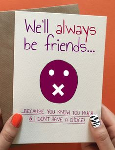 Funny best friend birthday card, best friend gift idea. Not her birthday yet? Save it for later.