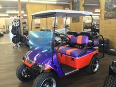 Custom Clemson Golf Cart