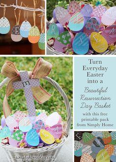 Resurrection Basket: Free Printable Pack | Simply Home Blog