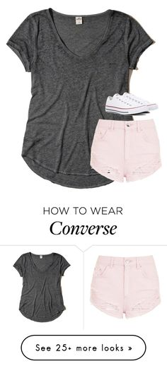 """""""Untitled #3063"""" by laurenatria11 on Polyvore featuring Hollister Co., Topshop and Converse"""
