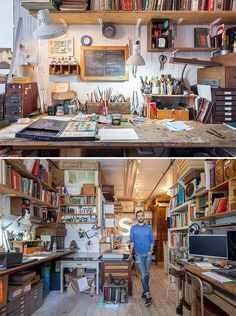 """Nicholas Calcott """"In my studio I have a huge blackboard I write on. Crossing things off lists is probably my favourite thing to do. Sometimes, I'll even add something on to a list that I've already done, just so I can cross it off."""""""
