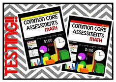 Common Core math assessments for the whole year. Each standard is assessed on a 1 page with 10-12 questions. 1st & 2nd grade available.