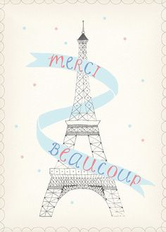 MERCI BEAUCOUP by cakewithgiants on Etsy, $30.00