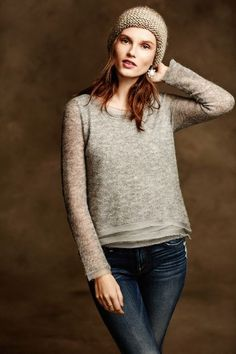 This is a good length for me  Irina Pullover - anthropologie.com
