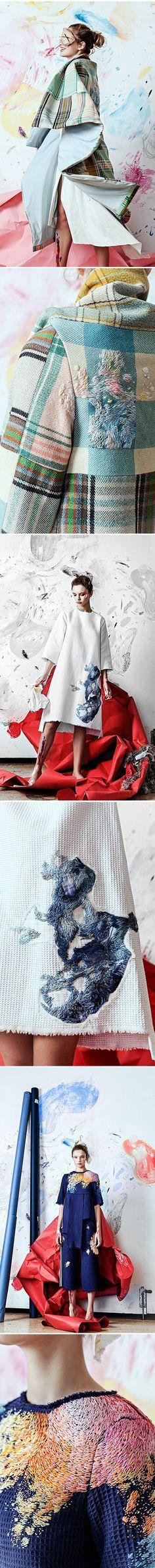Olya Glagoleva clothes with embroidery by Lisa Smirnova
