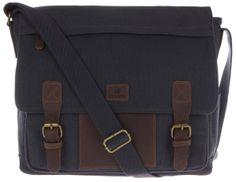Mens Messenger Bag   Conkca Hoxton Canvas and Leather Messenger Bag - Navy   #messenger #leather #bag #conkca #kjbeckett