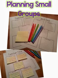 Small Group Organization- love the ideas here. Super inspiring for simple planning!