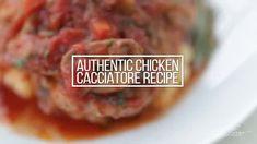 Classic Chicken Cacciatore Recipe - Chef Billy Parisi Italian Chicken Cacciatore, Creamy Scalloped Potatoes, Braised Chicken, Mashed Potatoes, Chicken Recipes, Stuffed Mushrooms, Dishes, Cooking