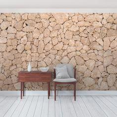 GroBartig Steintapete Selbstklebend   Apulia Stone Wall   Alte Steinmauer Aus Großen  Steinen   Fototapete Steinoptik