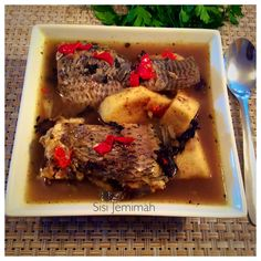 tilapia and yam pepersoup