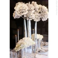 Decoración para bodas en tonos #metálicos #Wedding #banquete #decor #YUCATANLOVE