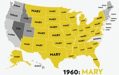 Maps: Six Decades of the Most Popular Names for Girls, State-by-State