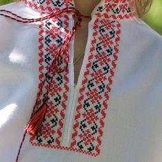 Cross Stitch Borders, Cross Stitch Rose, Cross Stitch Embroidery, Hand Embroidery, Broderie Bargello, Palestinian Embroidery, Craft Accessories, Types Of Shirts, Men's Shirts