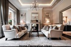 To recreate a classic living room decoration, you only need to stick with the basic of how traditional living room should look like. Living Room Decor Traditional, Traditional Interior Design, Living Room Warm, Traditional Interior, Trending Decor, Classic Living Room Design, Luxury Home Decor, Elegant Living Room, Elegant Living