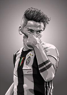 Paulo Dybala is a new idol Art Football, Ronaldo Football, Soccer Art, Football Is Life, Juventus Soccer, Juventus Fc, Football Player Drawing, Football Players, Cr7 Messi