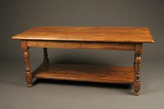 Antique French Louis XVI style low table with shelf or coffee table in elm wood, circa Antique Coffee Tables, Low Tables, Louis Xvi, French Antiques, Entryway Tables, Shelf, Wood, Furniture, Home Decor