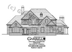 Birkshire Manor House Plan 03210, Front Elevation, Traditional Style House Plans, French Style House Plans (**no mud room shared BR upstairs)