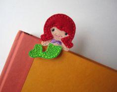 Extra LARGE Paperclip Bookmark, Mermaid Bookmark, Felt Bookmark, Paperclips, Jumbo Paper Clip, Filofax, Planner Clips, Calendar, bmmermaid50